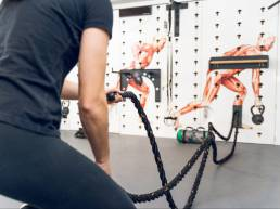 Functional Training Befestigung von Battle Rope